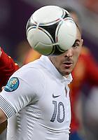 FUSSBALL  EUROPAMEISTERSCHAFT 2012   VIERTELFINALE Spanien - Frankreich      23.06.2012 Karim Benzema (Frankreich) Einzelaktion am Ball