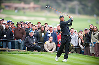 PEBBLE BEACH, CA--Tiger Woods competes in the third round of the AT&T Pebble Beach National Pro-Am Golf Championship at Pebble Beach Golf Links in Pebble Beach, CA on Satruday, February 11, 2012.