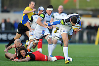 Matt Banahan of Bath Rugby takes on the Saracens defence. Aviva Premiership match, between Saracens and Bath Rugby on January 30, 2016 at Allianz Park in London, England. Photo by: Patrick Khachfe / Onside Images