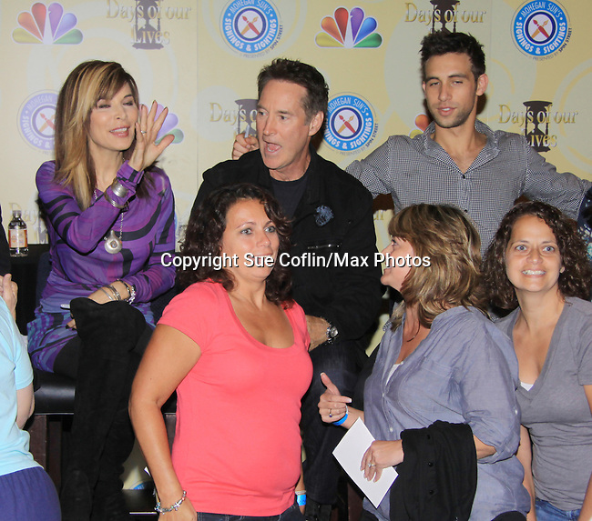 Days Of Our Lives National Tour - Lauren Koslow, Drake Hogestyn, Blake Berris and fans on September 23, 2012 at The Shops at Mohegan Sun, Uncasville, Connecticut. (Photo by Sue Coflin/Max Photos)