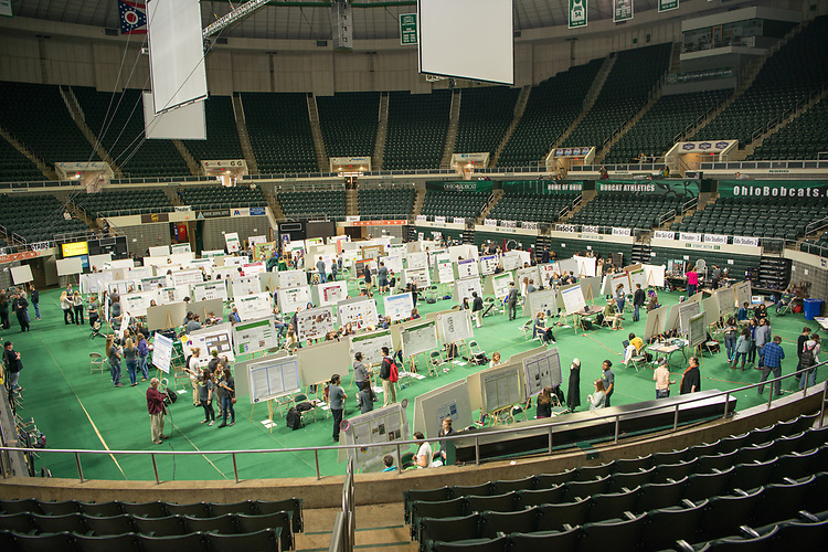 Ohio University's Student Research and Creative Activity Expo, features work from more than 800 Ohio University students. Photo by Ben Siegel