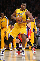 02/22/11 Los Angeles, CA: Los Angeles Lakers center Andrew Bynum #17 during an NBA game between the Los Angeles Lakers and the Atlanta Hawks at the Staples Center. The Lakers defeated the Hawks 104-80.
