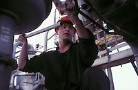 Orenburg, central Russia, July 1999...Major Gazprom production facility near Orenburg in central Russia: maintainence work.