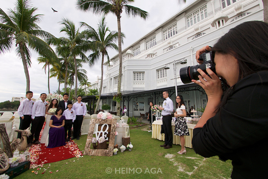 Malaysia, Penang. E&O - the Eastern & Oriental Hotel. Wedding ceremony..
