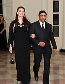 Rajiv Kumar Fernando, CEO of Chopper Trading, and Jennifer Lynn Pelaez arrive for the Official Dinner in honor of Prime Minister David Cameron of Great Britain and his wife, Samantha, at the White House in Washington, D.C. on Tuesday, March 14, 2012.  Mr. Fernando is one of United States President Barack Obama's biggest campaign fundraisers..Credit: Ron Sachs / CNP.(RESTRICTION: NO New York or New Jersey Newspapers or newspapers within a 75 mile radius of New York City)