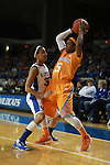 UK guard Kastine Evans guards Tennessee guard Ariel Massengale  during the first half of the UK vs. Tennessee at Memorial Coliseum in Lexington, Ky., on Sunday, March 3, 2013. Photo by Emily Wuetcher | Staff....