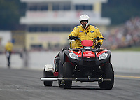 Oct. 6, 2012; Mohnton, PA, USA: NHRA Safety Safari four wheeler ATV during qualifying for the Auto Plus Nationals at Maple Grove Raceway. Mandatory Credit: Mark J. Rebilas-