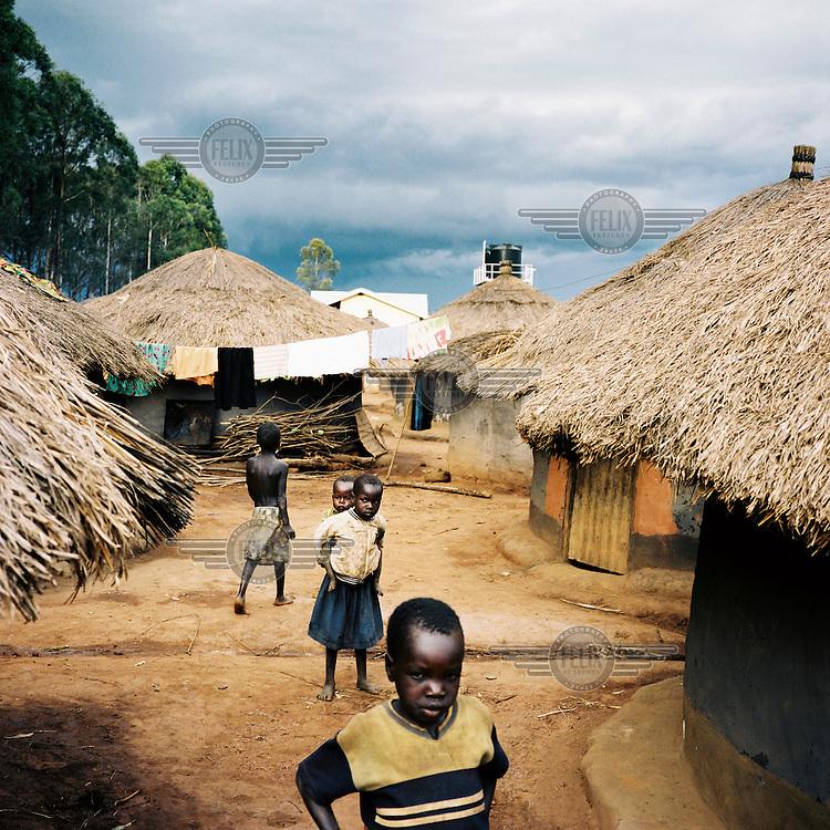 An IDP (internally displaced person) camp in Northern Uganda.