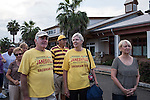 Bruce and Barb Dougal, who split their time between Janesville, Wisconsin, and The Villages, Florida, wait in line to enter a campaign rally with Republican Vice Presidential candidate  Rep. Paul Ryan (R-WI) on Saturday, August 18, 2012 in The Villages, FL.