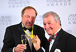 Jacques Pepin and Kevin Zraly.  James Beard Awards.  New York, New York.