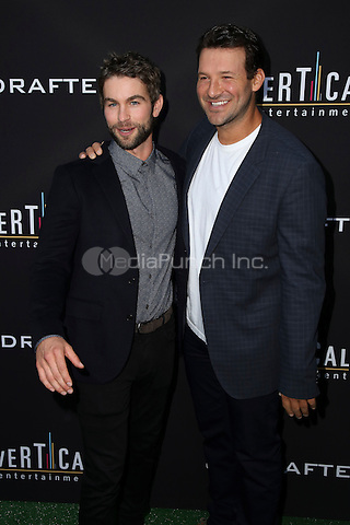 HOLLYWOOD, CA - JULY 11: Chace Crawford, Tony Romo at the premiere of Undrafted at the Arclight in Hollywood, California on July 11, 2016. Credit: David Edwards/MediaPunch