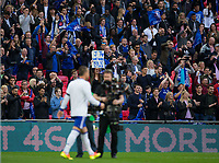 A fan holds up a sign for Chelsea's John Terry asking him to stay               <br /> <br /> <br /> Photographer Craig Mercer/CameraSport<br /> <br /> Emirates FA Cup Semi-Final - Chelsea v Tottenham Hotspur - Saturday 22nd April 2017 - Wembley Stadium - London<br />  <br /> World Copyright &copy; 2017 CameraSport. All rights reserved. 43 Linden Ave. Countesthorpe. Leicester. England. LE8 5PG - Tel: +44 (0) 116 277 4147 - admin@camerasport.com - www.camerasport.com