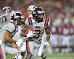 Ole Miss running back Jeff Scott (3) vs. Alabama at Bryant-Denny Stadium in Tuscaloosa, Ala. on Saturday, September 29, 2012.