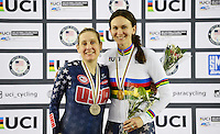 Picture by Simon Wilkinson/SWpix.com - 04/03/2017 - Cycling 2017 UCI Para-Cycling Track World Championships, Velosports Centre, Los Angeles USA - Samantha Bosco and Jennifer Schuble