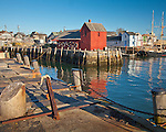Motif #1, the red fishing shack in Rockport Harbor, Rockport, MA, USA