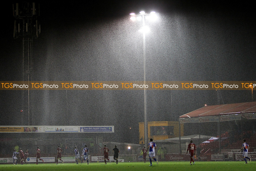 The Rain gets heavier at The Broadfield Stadium - Crawley Town vs Bristol Rovers - FA Challenge Cup 2nd Round Replay Football at the Broadwood Stadium, Crawley, West Sussex - 18/12/13 - MANDATORY CREDIT: Simon Roe/TGSPHOTO - Self billing applies where appropriate - 0845 094 6026 - contact@tgsphoto.co.uk - NO UNPAID USE