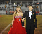 Senior maid Emily Gardner (left) with escort Clyde Burgos at Lafayette High vs. Tunica Rosa Fort in Oxford, Miss. on Friday, October 5, 2012. Lafayette High won 35-6.