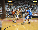 "Ole Miss' Jarvis Summers (32) vs. Kentucky's Ryan Harrow (12) at the C.M. ""Tad"" Smith Coliseum on Tuesday, January 29, 2013."