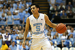 30 December 2015: North Carolina's Marcus Paige. The University of North Carolina Tar Heels hosted the Clemson University Tigers at the Dean E. Smith Center in Chapel Hill, North Carolina in a 2015-16 NCAA Division I Men's Basketball game. UNC won the game 80-69.