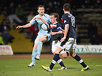 Dundee v St Johnstone.....27.02.13      SPL.Liam Craig and Gary Irvine.Picture by Graeme Hart..Copyright Perthshire Picture Agency.Tel: 01738 623350  Mobile: 07990 594431