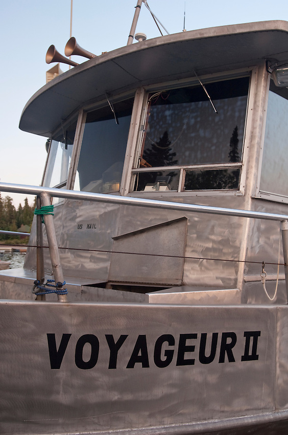 National Park Service shuttle Voyageur II at Rock Harbor at Isle Royale National Park.