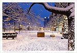 """The third print in a four part series entitled: """"Winter on the Square"""".  Please see the """"Fine Art   Artist Series"""" Gallery for the companion pieces."""
