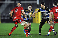 Pat Jenkinson of Bath United in possession. Aviva A-League match, between Bath United and Bristol United on December 28, 2015 at the Recreation Ground in Bath, England. Photo by: Patrick Khachfe / Onside Images