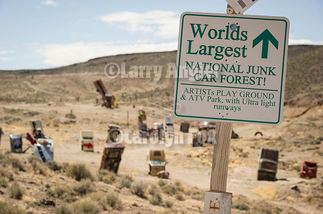 National Junk Car Forest! (World's Largest), Goldfield, Nev.