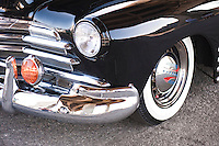 Antique, Classic, close up detail shot of a 1948 Chevrolet, Fleetmaster,