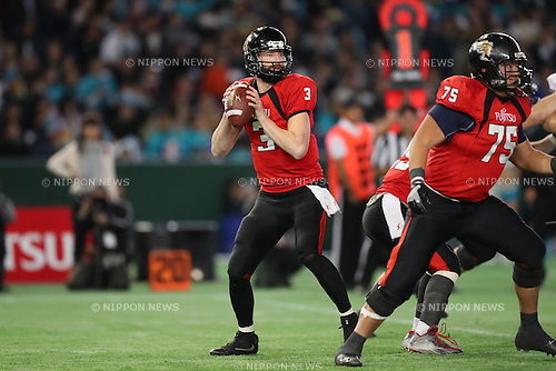 Colby Dane Cameron (Frontiers), <br /> DECEMBER 12, 2016 - American Football : <br /> X League Championship &quot;Japan X Bowl&quot; <br /> between Obic Seagulls 3-16 Fujitsu Frontiers <br /> at Tokyo Dome, Tokyo, Japan. <br /> (Photo by YUTAKA/AFLO SPORT)
