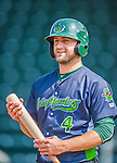 8 July 2015: Vermont Lake Monsters infielder Ryan Howell awaits his turn in the batting cage prior to a game against the Mahoning Valley Scrappers at Centennial Field in Burlington, Vermont. The Lake Monsters defeated the Scrappers 9-4 to open the home game series of NY Penn League action. Mandatory Credit: Ed Wolfstein Photo *** RAW Image File Available ****