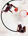 GREENVILLE, SC - MARCH 17: Lamont Walker (14) of Texas Southern University reaches for a rebound during the 2017 NCAA Men's Basketball Tournament held at Bon Secours Wellness Arena on March 17, 2017 in Greenville, South Carolina. (Photo by Grant Halverson/NCAA Photos via Getty Images)