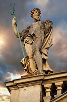 Baroque statues - Festetics Baroque Palace (1745-1887) - Keszthely, Lake Balaton, Hungary