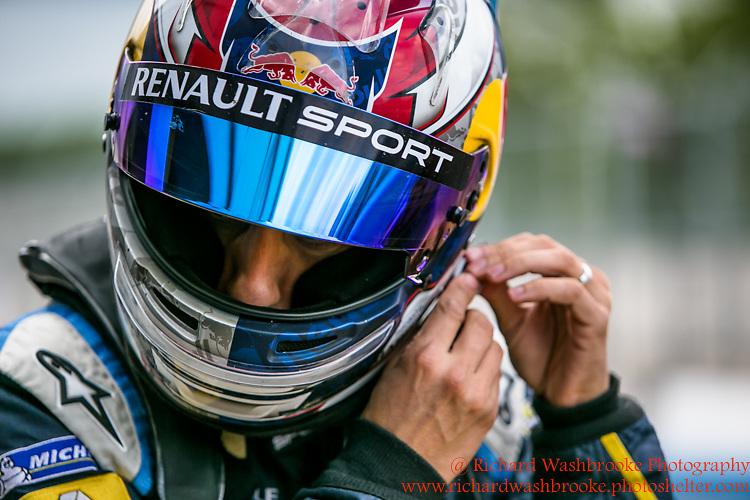 9 Sebastien Buemi (CHE)  Renault e.Dams  FormulaE Test Day Donnington Park  10th August 2015<br /> <br /> Photo:  - Richard Washbrooke Photography