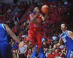 Ole Miss guard Chris Warren (12)  shoots at the C.M. &quot;Tad&quot; Smith Coliseum in Oxford, Miss. on Tuesday, February 1, 2011. Ole Miss won 71-69.