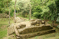 El Bosque complex at the Mayan ruins of Copan, Honduras. Copan is a UNESCO World Heritage Site.