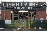 Demolition of Liberty Warehouse in Durham, N.C. on Wednesday, July 30, 2014. (Justin Cook)