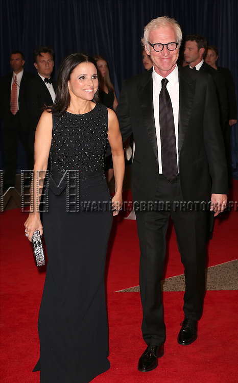 Julia Louis-Dreyfus and Brad Hall attend the 100th Annual White House Correspondents' Association Dinner at the Washington Hilton on May 3, 2014 in Washington, D.C.