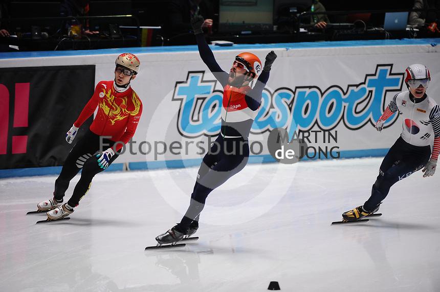 SHORT TRACK: ROTTERDAM: Ahoy, 11-03-2017, KPN ISU World Short Track Championships 2017, Sjinkie Knegt ©photo Martin de Jong