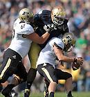 Sep 8, 2012; Louis Nix (9) makes a sack against Purdue...Photo by Matt Cashore