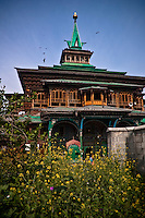 The Shah-i-hamadan shrine in Kashmir, India, also known as the Papier-mâché mosque.