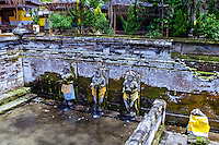 Bali, Gianyar, Goa Gajah. The elephant cave. Holy water from Gunung Batur.