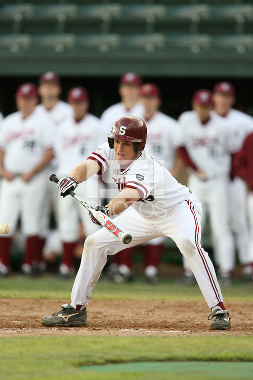 13 February 2007: Cord Phelps during Stanford's 5-1 exhibition win over Rikkio University at Sunken Diamond in Stanford, CA.