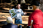 Garbelotto shows workshop participants an illustration of  bay tree leaves that have been infected by SOD.  Bay trees are the primary vector for transmitting SOD to oak trees within 1KM.