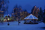 Tree lighting festival at Christmas time over in Leavenworth Eastern Washington State USA