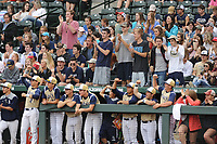 NWA Democrat-Gazette/ANDY SHUPE<br /> Shiloh Christian Nashville Friday, May 19, 2017, during the Class 4A state championship game at Baum Stadium in Fayetteville. Visit nwadg.com/photos to see more photographs from the game.