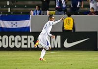 CARSON, CA - March 23, 2012: Alexander Lopez (10) of Honduras during the Honduras vs Panama match at the Home Depot Center in Carson, California. Final score Honduras 3, Panama 1.