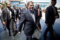 Mohamed Morsy, Egyptian presidential candidate and President of the party Freedom and Justice Party (Muslim Brotherhood)  is considered one of the conservative voices within Egypt?s oldest Islamist organization.His power put him in confrontation with the group?s progressive youth on several occasions.Since Shater?s disqualification, the Muslim Brotherhood?s official discourse has portrayed Morsy as ?a politically savvy? candidate, ?a symbol of the revolution,? The group?s official discourse invokes Morsy?s parliamentarian background to prove his commitment to democracy, opposition to Mubarak?s regime and defense of Sharia. So far, Morsy's chances to survive the first phase seem slim.The 61-year-old engineer has failed to garner the support of various Islamist factions.