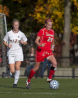 Marist College forward/midfielder Amanda Epstein (24) brings the ball forward. Boston College defeated Marist College, 6-1, in NCAA tournament play at Newton Campus Field, November 13, 2011.