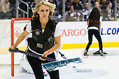 Los Angeles Kings Ice Girl during ice-hockey match between Los Angeles Kings and Colorado Avalanche in NHL league, February 26, 2011 at Staples Center, Los Angeles, USA. (Photo By Matic Klansek Velej / Sportida.com)